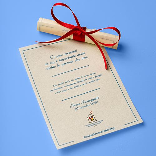 Pergamena 10x11 cm personalizzata - Laurea