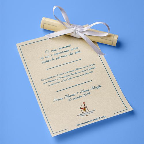 Pergamena 12,5x17,5 cm personalizzata - Matrimonio
